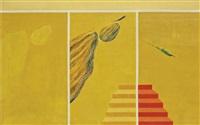 untitled (bird & mountain series) by jagdish swaminathan
