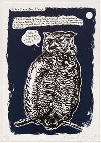 untitled (when i see the blind...), from plots on loan i by raymond pettibon
