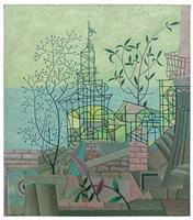 mit dem grünen pavillon / with the green pavilion by otto wilhelm ernst nebel