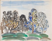 les oliviers by raoul dufy