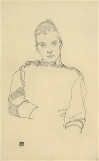 portrait of an austrian officer by egon schiele