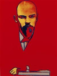 red lenin (ii.403) by andy warhol
