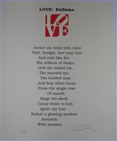 from the book of love poems by robert indiana