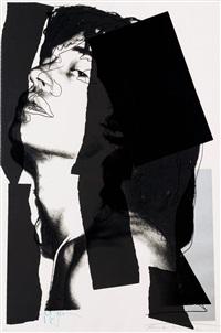 mick jagger, black (fs ii144) by andy warhol