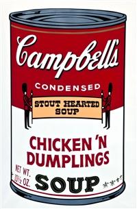 campbells soup ii: chicken n dumplings (fs ii.58) by andy warhol