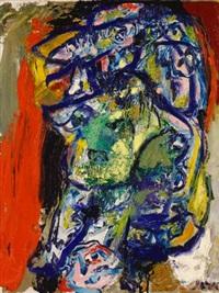 ohne titel (blaue augen) by asger jorn