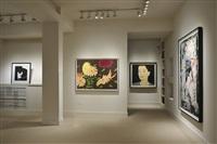 alex katz installation at meyerovich gallery, late summer flowers by alex katz