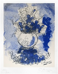 bouquet de fleurs à l'aquarelle by georges braque