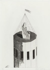 the princess in her tower (from six fairy tales from the brothers grimm) by david hockney