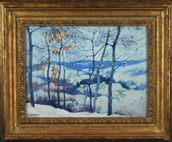 winter in the connecticut valley by guy carleton wiggins