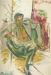 portrait of robert mallary by elaine de kooning