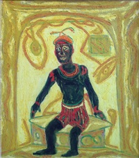 self portrait(in paris bath house) by beauford delaney