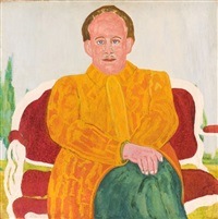 portrait of a seated man (joseph delaney) by beauford delaney