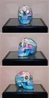 the hours spin skull #5 by damien hirst