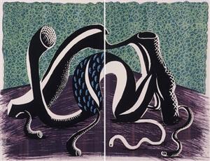 extending, february 1990 (diptych) by david hockney