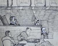 judge medina by alice neel