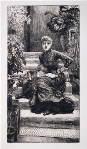 la souer aînée (the older sister) by james jacques joseph tissot