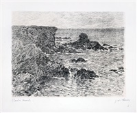 falaises by claude monet