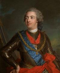 portrait en cuirasse de fernando de silva y alvarez de toledo, duc de huescar, 12e duc d'albe (1714 - 1776)