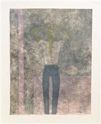 hombre con abrazos sobre la cabeza (man with arms over his head) by rufino tamayo