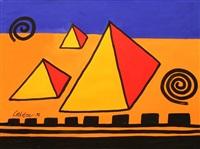 three pyramids by alexander calder