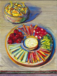 vegetables & chips by wayne thiebaud