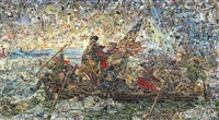 washington crossing the delaware, after emanuel leutze (pictures of magazines 2) by vik muniz