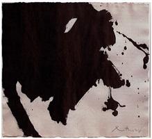 untitled (black gesture) by robert motherwell