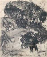 p1.65 (from the fables of lafontaine) by marc chagall