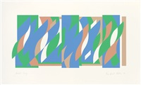 after wall painting (arcadia 3) by bridget riley