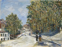 place des minimes à lyon st just by maurice utrillo