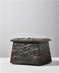 trillium treasure box by alfred-louis-achille daguet