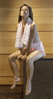 seated girl with towel by marc sijan