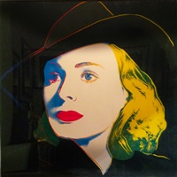 ingrid bergman: with hat (fs ii.315) trial proof by andy warhol