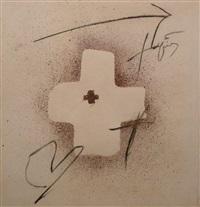 silueta de creu by antoni tàpies