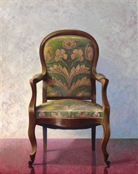 green chair on wheels by barend blankert
