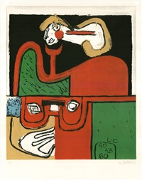 portrait by le corbusier