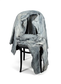 jacket, pants on chair by george segal