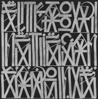 untitled black and silver by retna