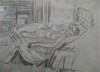 reclining nude, mornington crescent by walter richard sickert