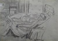 reclining nude, mornington crescent by walter richard sickert
