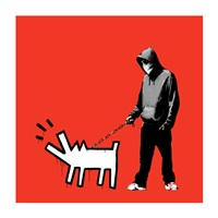 choose your weapon red by banksy
