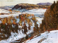 snow scene by george gardner symons