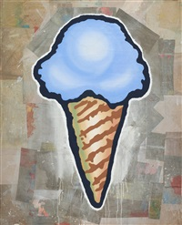 blue cone by donald baechler