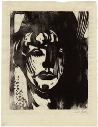 blonde frau-blond woman by emil nolde