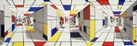 all-out mondrian by patrick hughes