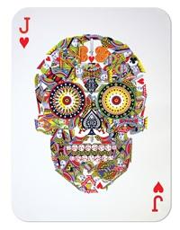 poker skull (jack of hearts) by jacky tsai