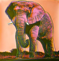 endangered species-african elephant ii.293 by andy warhol