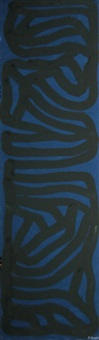 blue vertical by sol lewitt