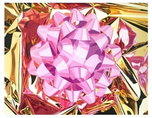 pink bow (celebration series) by jeff koons